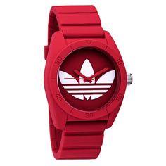997ac75105c7 Adidas Santiago ADH6168 Red Rubber Quartz Watch Relojes Finos