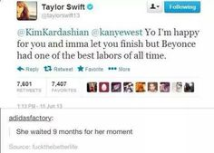 I'm not a Taylor fan but that was funny lol