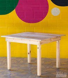 Tutorial Vila do Artesão - Mesa de madeira simples, como fazer
