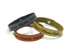 Custom Leather Bracelet Engraved with the Name of your Choice, Bracelet Femme, Laser Engraved Personalized Leather Bracelet w/ Post Closure Custom Leather Bracelets, Leather Cuffs, Leather Jewelry, Most Stylish Men, Leather Conditioner, Personalized Bracelets, Vegetable Tanned Leather, Gifts For Husband, Bracelets For Men