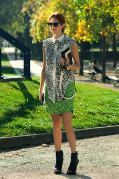 Taylor Tomasi Hill  Artistic Director, Moda Operandi    Outfit 1:  -Balenciaga Top  -Proenza Schouler Skirt  -Givenchy Shoes  -Chanel Bag