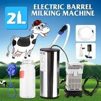 2L Portable Electric Milking Machine Vacuum Pump For Farm Sheep Goat Tank