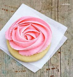 These sweet little Rose Cookies are so fun and easy to do, and I am so excited to finally be sharing the recipe with you! I used my favorite Sugar Cookie recipe but with some adjustments. I added baking soda to help keep the cookie soft.  When both baking powder and baking soda are in a recipe,