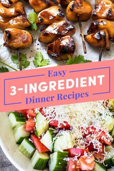 Tasty 3 Ingredient Dinner Recipes: You don't need a million ingredients to make a really good meal. 3 Ingredient Dinners, 3 Ingredient Recipes, Slow Cooker Salsa, Sandwiches, Tomato Sauce Recipe, Soy Sauce, Cooking Recipes, Healthy Recipes, Simple Recipes