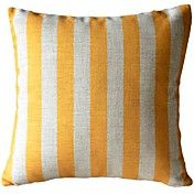 Yellow Stripe Decorative Pillow Cover – AUD $ 18.18