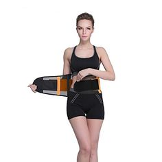 Waist trimmer Belt Fancyteck Breathable Waist Trainer Belt For Hourglass Shape XXL Orange  Fancyteck Breathable Waist Trainer Belt Waist Slimming Belt For Hourglass Shape  is your optimal waist trainer belt, which brings functionality and comfort together to help you achieve that hourglass figure you dream about! Now, you can pick between 10 colors and 5 sizes to choose the one, which fits you best.  The product is made out of a breathable material to provide you with extra comfort a..