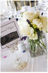 Rose Lavender Fresia Wedding Table Centrepiece