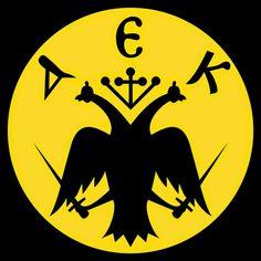 AEK logo in volley. Ferrari Logo, Bat Signal, Superhero Logos, 1, Soccer Teams, Disney, Sports, Hs Sports, Ferrari Sign