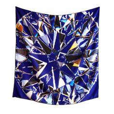 Facets  -  scarf (blue) by Ayako Kanari
