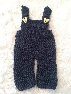 Crochet Baby Overalls Newborn Overalls Baby Boy Photography