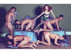 Steven Meisel's series of fake ads.  The gender reversal here shows just how idiotic and sexist real adverts are.