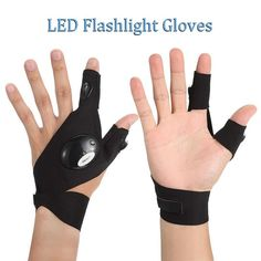 LED GLOVES WITH WATERPROOF LIGHTS – Verde