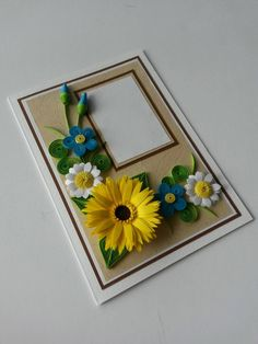 Quilled Greeting Card  Birthday Card  Father's Day by Gericards
