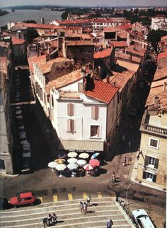 View of Arles, France from the steps of the Roman Colosseum