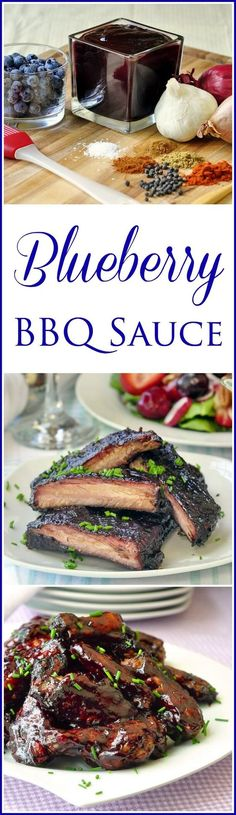 This blueberry barbecue sauce has a uniquely delicious sweet and tart character that goes exceptionally well with pork or chicken. Ideal for BBQ pork ribs.