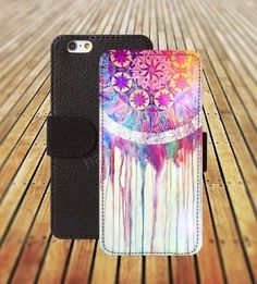 Bekijk alle stijlvolle iPhone hoesjes - #leather iphone cases 4s | iphone 5 5s case watercolor Dreamcatcher iphone 4/4s iPhone 6 6 Plus iphone 5C Wallet Case,iPhone 5 Case,Cover,Cases colorful pattern L237 - http://www.lereniPhone5hoesjes.nl