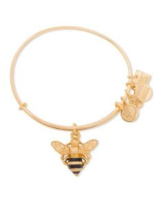 Alex and Ani Bumble Bee Expandable Wire Bangle, Charity By Design Collection | Bloomingdale's
