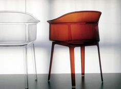 Color or transparency? Choose your mood! Papyrus chair by E. & R. Bouroullec