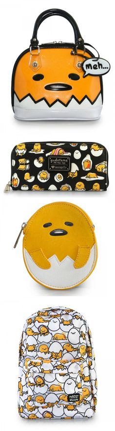 These Loungefly Gudetama Bags Look Lazy And Tasty