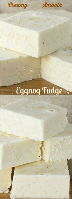 Smooth, creamy Eggnog Fudge - a perfect balance of spice, sweetness and smoothness.