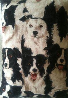 Sheep Dog Border Collie Dog Fabric Lavender Bag - Handmade