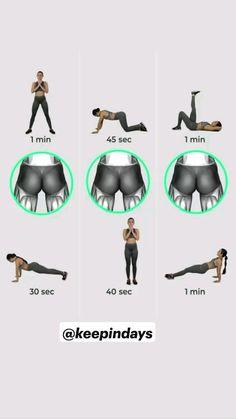 Body Weight Leg Workout, Full Body Gym Workout, Slim Waist Workout, Gym Workout Videos, Gym Workout For Beginners, Fitness Workout For Women, Butt Workout, Fitness Tips, Body Weight Exercises