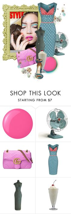 """Pin The Dots"" by the-house-of-kasin ❤ liked on Polyvore featuring Polaroid, Essie, Gucci, Bormioli Rocco, Steve Madden, vintage, VintageInspired, retro and pinup"
