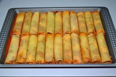 cannelloni di carne 12 Crepe Recipes, Pasta Recipes, Mozzarella, Cannelloni Recipes, Fat Burning Foods, Ravioli, Gnocchi, Crepes, Pasta Dishes