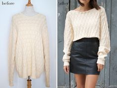 diy cropped knit by apairandaspare