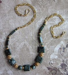 Gilded Wings Seraphinite and 24K Gold SET Necklace and