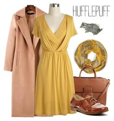 Hufflepuff by waywardfandoms on Polyvore featuring polyvore fashion style Restricted Mondani clothing Winter harrypotter Hufflepuff
