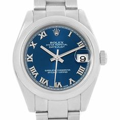 Women's Certified Pre-Owned Watches - Rolex Datejust automaticselfwind blue womens Watch 178240 Certified Preowned *** To view further for this item, visit the image link.