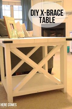 DIY X-Brace Table... a great weekend project.