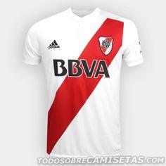 3bfb99994d438 Camiseta adidas de River Plate 2017-18 Camisas De Futebol