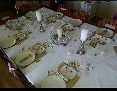 Christmas table decor snowman
