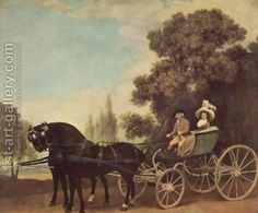 Lord and Lady in a Phaeton by George Stubbs