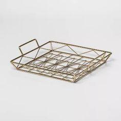 Decorative Geometric Tray Large - Gold - Project 62™