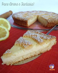 Ricotta tart with lemon cream Delicious Desserts, Dessert Recipes, Yummy Food, Italian Desserts, Italian Recipes, Cream Lemon, Nutrient Rich Foods, Sweet Tarts, Sweet Bread