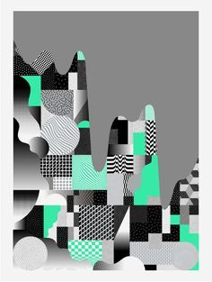 L'atelier Irradié is a multidisciplinary creative studio founded in 2016 by brothers Alain and Laurent Vonck. It brings visual and conceptual solutions in the fields of graphic design, art direction, and digital design. Typography Poster, Typography Design, Graphic Artwork, Graphic Posters, Design Graphique, Green Pattern, Abstract Wall Art, Cool Posters, Geometric Art