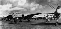 Captured Heinkel He 219A Uhu fighters in Denmark.