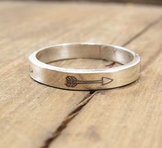 Silver Arrow Ring   Sterling Silver Jewelry by emilyjdesign