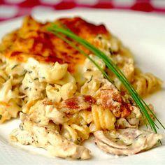 Turkey Parmesan Baked Rotini