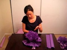 Want to make the Martha Stewart Paper flower pom pom poofs! Check out this video....