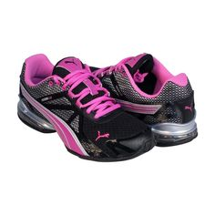 Puma Womens Womens Voltaic 5 Black Pink Synthetic Athletic Running Shoes #PUMA #RunningCrossTraining