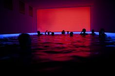 """James Turrell Light & Pool Installation. Bathing in a """"pool"""" of light, fantastic!"""