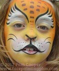 lion face paint | Lion