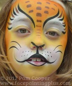 lion face paint | Lion