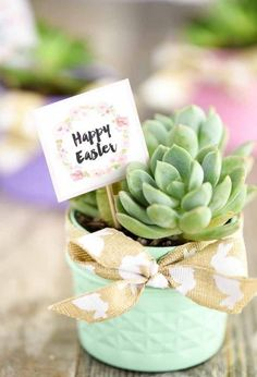 Jazz up your Easter table with these DIY mini mason jar succulents! gifts for adults diy mason jars Mason Jar Succulent Planters Pot Mason Diy, Mason Jar Crafts, Wine Bottle Crafts, Easter Gift For Adults, Happy Easter, Mason Jar Succulents, Potted Succulents, Succulent Planters, Succulent Ideas
