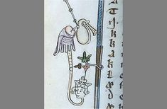 A snake man playing the bagpipes with his anus | 20 Bizarre Examples Of Medieval Marginalia