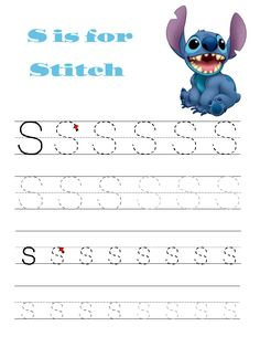 Disney letter trace sheets.